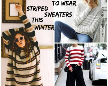 how to wear striped sweater for women