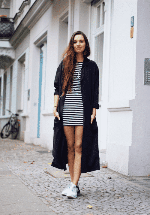 women outfits with blue coats