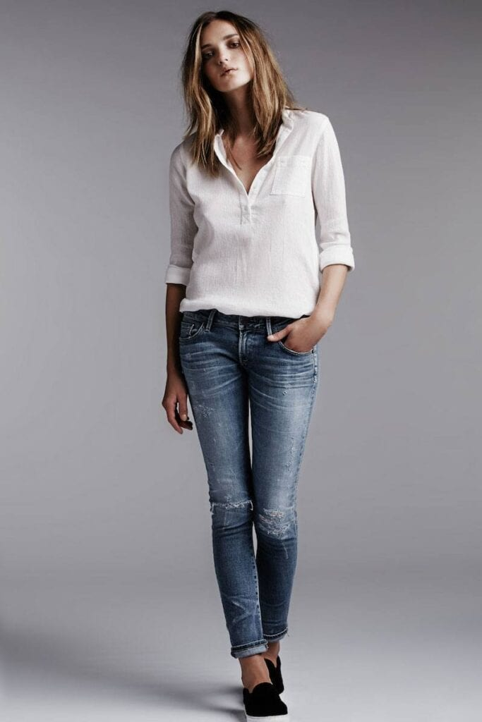 19-683x1024 Cute Tops to Wear with Jeans - 21 Jeans Tops Outfit Ideas