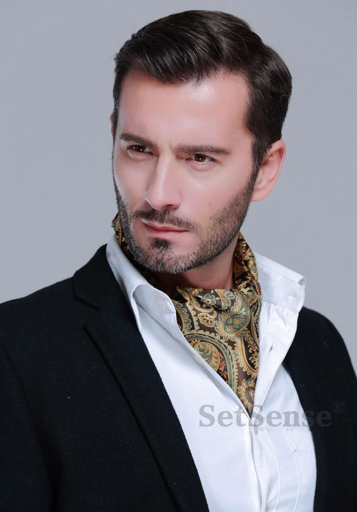 Ascot-Scarf-style-for-men Men Scarves Fashion - 18 Tips How to Wear Scarves for Guys