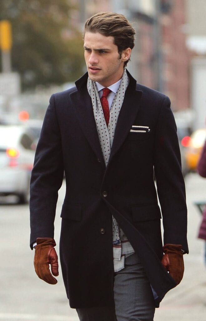 Formal-Business-Attire-With-Scarves-For-Men-659x1024 Men Scarves Fashion - 18 Tips How to Wear Scarves for Guys