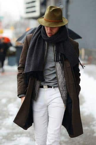 Twice-Around-Scarf Men Scarves Fashion - 18 Tips How to Wear Scarves for Guys