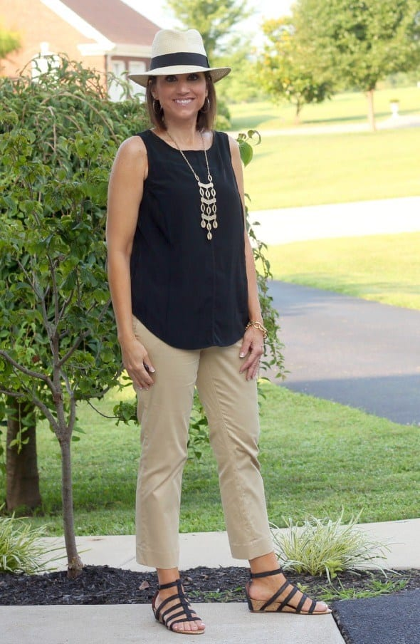 black-and-khaki 18 Outfits for Women Over 60- Fashion Tips For 60 Plus Women