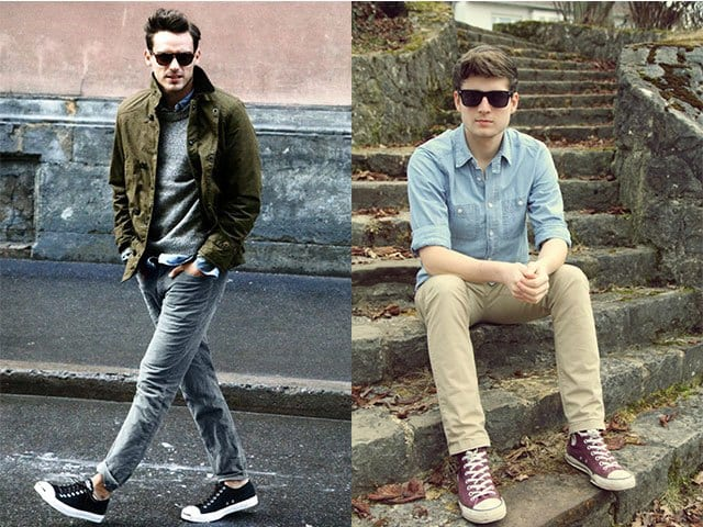 cool-basics Men Outfits with Vans-20 Fashionable Ways to Wear Vans Shoes
