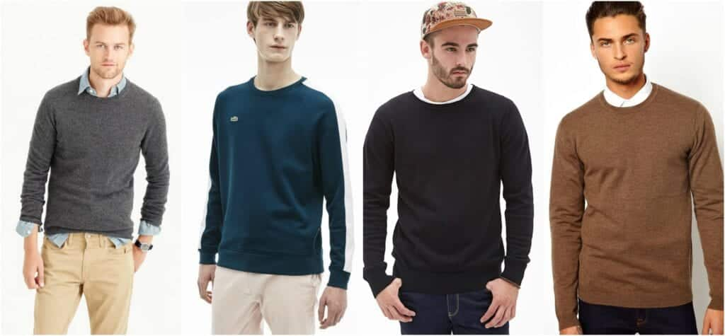 crew-neck-1024x475 Sweater outfits for men – 17 Ways to Wear Sweaters Fashionably