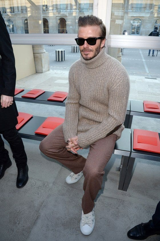 david-beckham-sweater-outfit-2017 Sweater outfits for men – 17 Ways to Wear Sweaters Fashionably