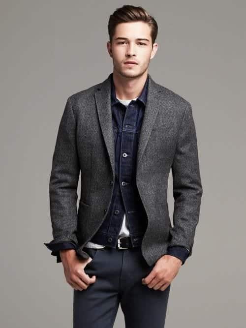 denim-jacket-blazer Denim Jackets Outfits For Men – 17 Ways To Wear Denim Jacket