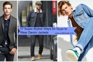 men outfits with denim jacket