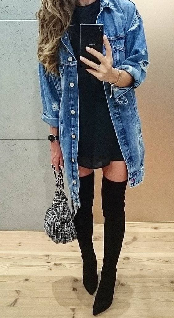 denim-look Dope Outfits for Girls-24 Cute Dope Fashion Ideas to Check Now