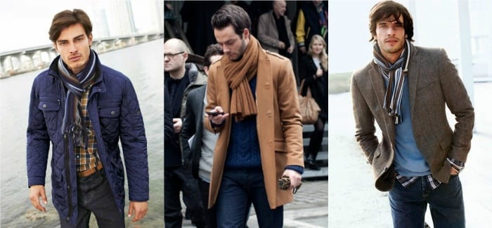 european-knot-style-scarfs-for-men Men Scarves Fashion - 18 Tips How to Wear Scarves for Guys