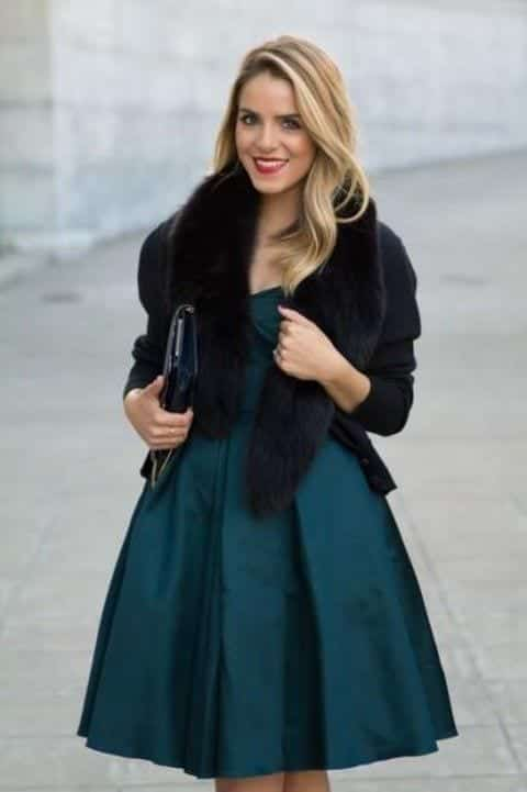 faux-fur-coat Outfits for Winter Wedding - 19 Best Winter Dresses for Wedding