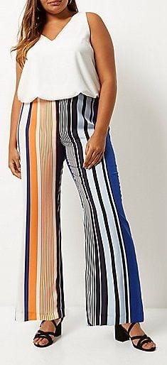 footwear-with-plazzo-pants Palazzo Pants for Plus Size–24 Palazzo Outfit Ideas for Curvy Girls