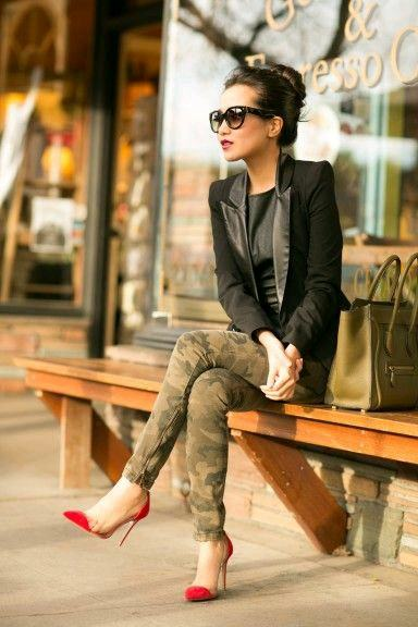 funky-dress-and-red-shoes Women's Outfits with Red Shoes- 30 Outfits to Wear with Red Shoes