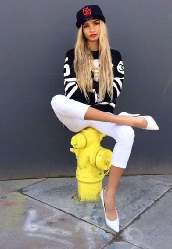 go-black-and-white Dope Outfits for Girls-24 Cute Dope Fashion Ideas to Check Now