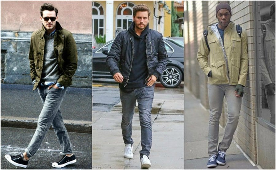 grey-shaded-jeans-wit-vans Men Outfits with Vans-20 Fashionable Ways to Wear Vans Shoes