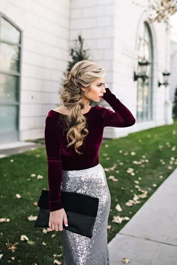 hairstlye-for-winter-weddings Outfits for Winter Wedding - 19 Best Winter Dresses for Wedding