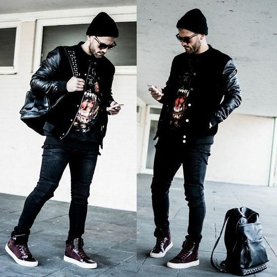 high-top-vans-1 Men Outfits with Vans-20 Fashionable Ways to Wear Vans Shoes