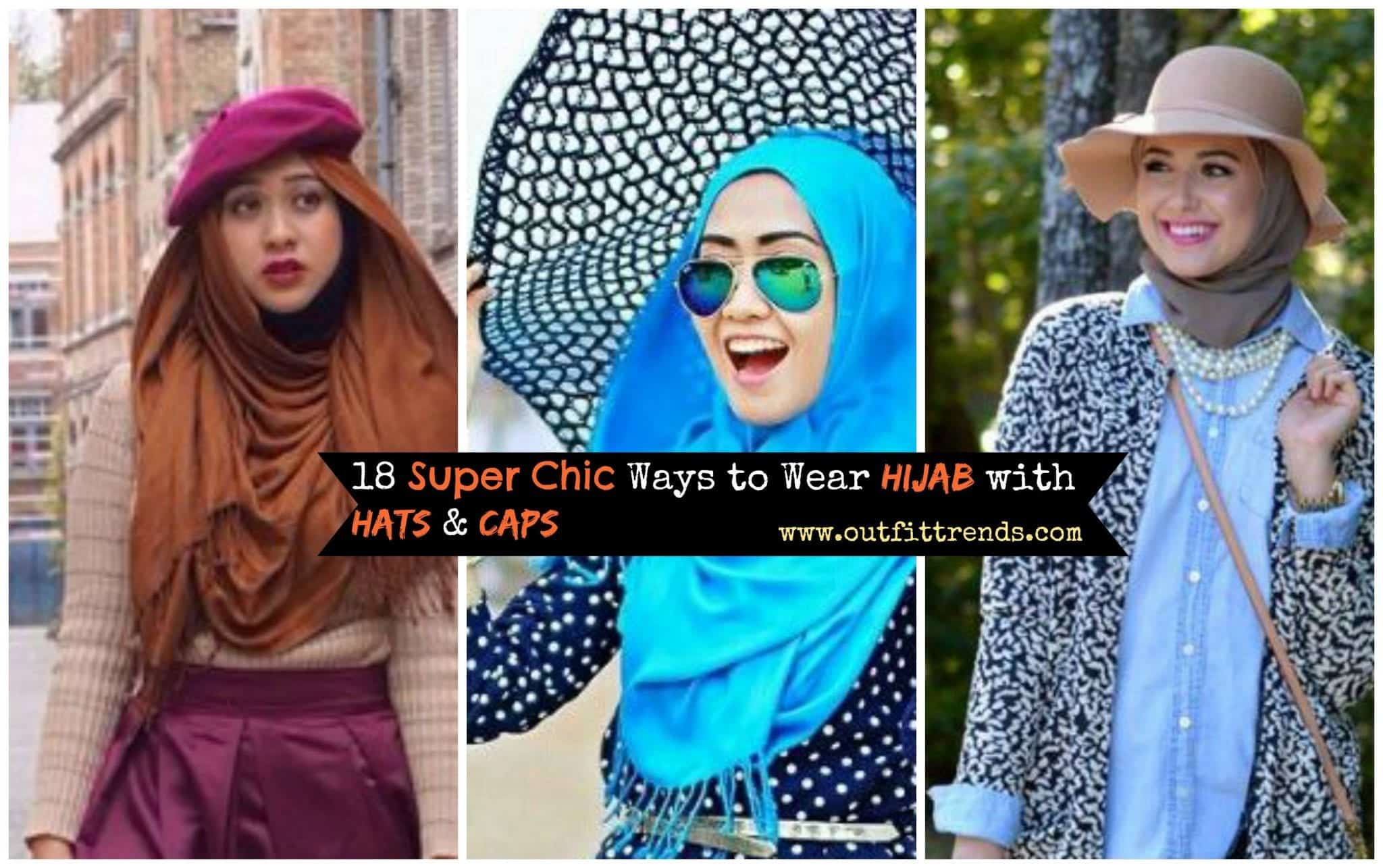 how-to-wear-hijab-with-hats-and-caps-1 Hijab with Hats Styles-18 Modest Ways to Wear Caps with Hijab