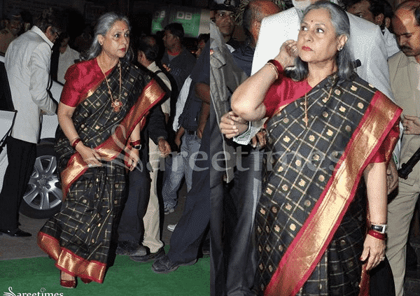 jaya-bachchan-vertical-stripes-saree How to Wear Saree for Short Height? 14 Pro Tips for Short Girls