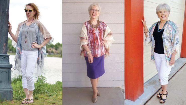 kimono 18 Outfits for Women Over 60- Fashion Tips For 60 Plus Women