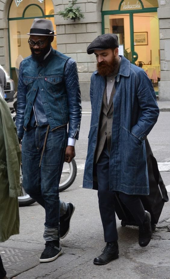 long-coat-type-denim-jacket Denim Jackets Outfits For Men – 17 Ways To Wear Denim Jacket