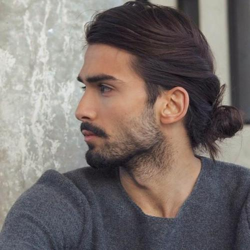 men-sweater-with-twisted-bun Sweater outfits for men – 17 Ways to Wear Sweaters Fashionably