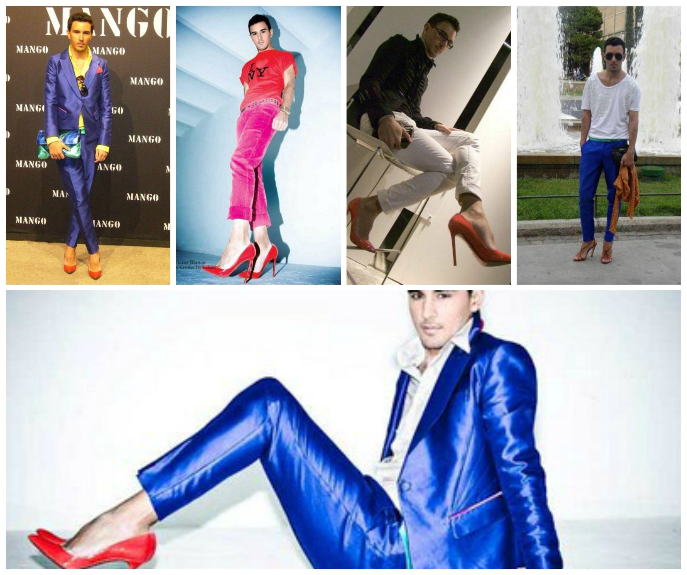 men-wearing-red-heels Red Shoes Outfits For Men-18 Ways to Wear Red Shoes for Guys