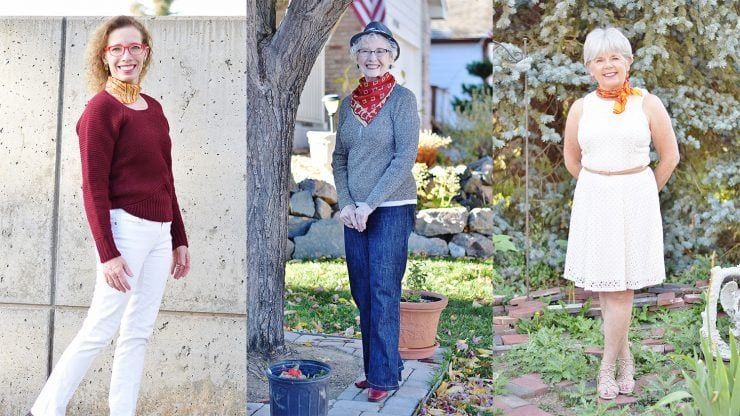 neck-scarves 18 Outfits for Women Over 60- Fashion Tips For 60 Plus Women
