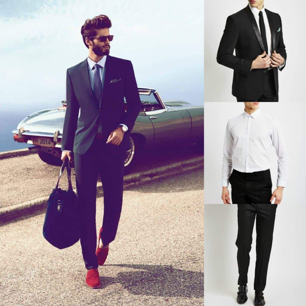 office-look-with-red-shoes Red Shoes Outfits For Men-18