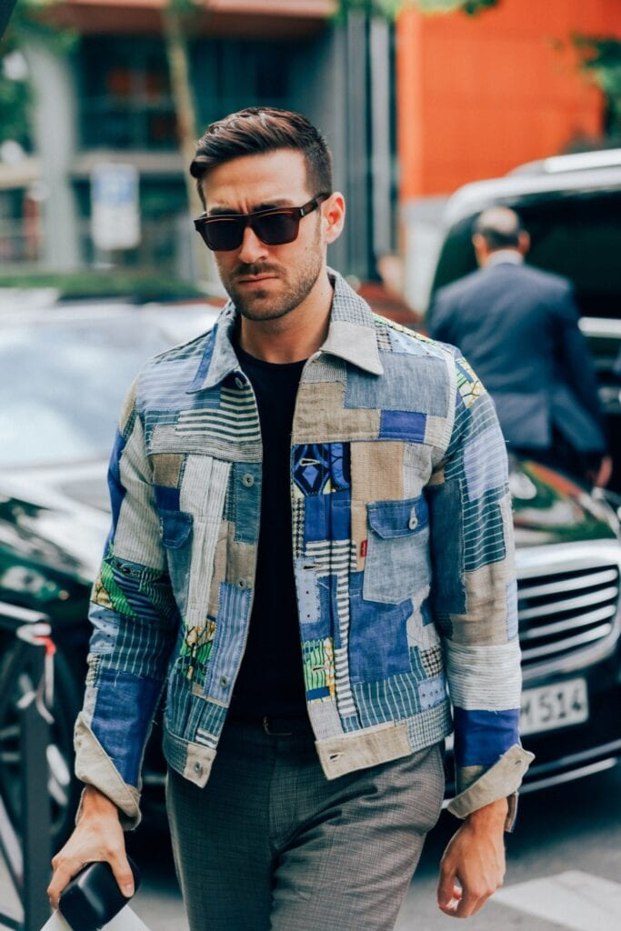 pattern-denim-jacket2pg-683x1024 Denim Jackets Outfits For Men – 17 Ways To Wear Denim Jacket