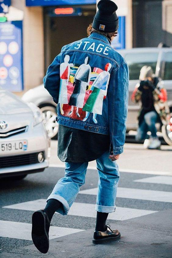 pattern-denimjacketjpg Denim Jackets Outfits For Men – 17 Ways To Wear Denim Jacket
