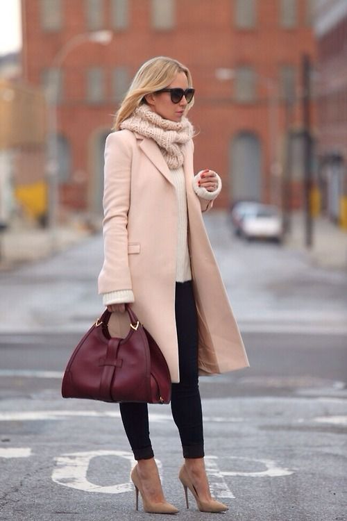 Outfit with Pink Sweater - 18 Ways to Wear Pink Sweaters