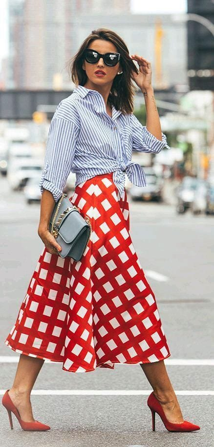 polka-dots-dress-in-red Women's Outfits with Red Shoes- 30 Outfits to Wear with Red Shoes