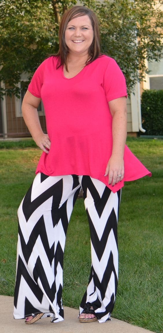 running-errands-look Palazzo Pants for Plus Size–24 Palazzo Outfit Ideas for Curvy Girls