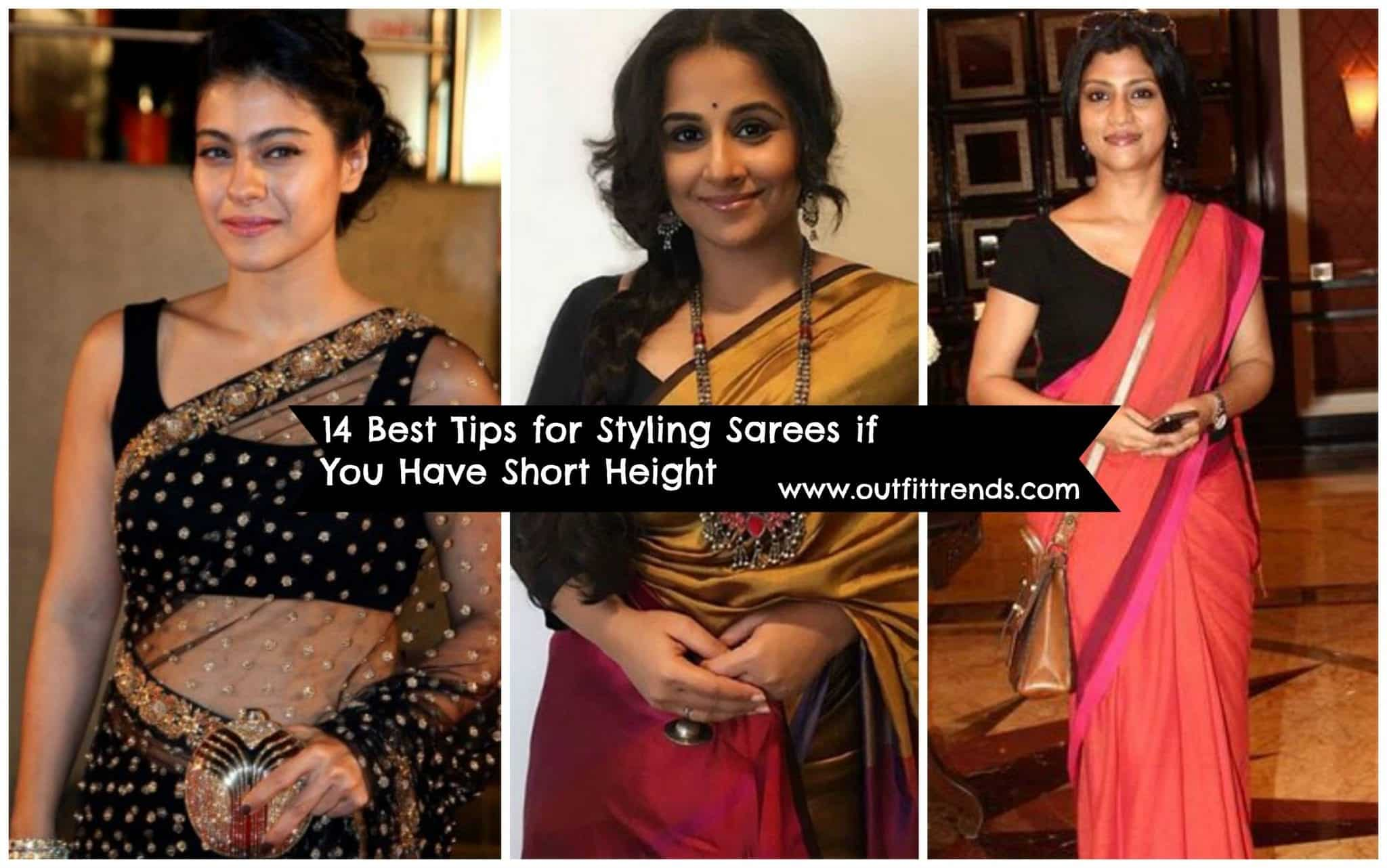 saree styles for short height girls