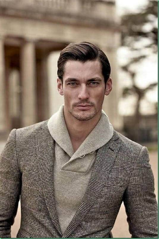 side-parted-hairstyle-wirh-sweater Sweater outfits for men – 17 Ways to Wear Sweaters Fashionably