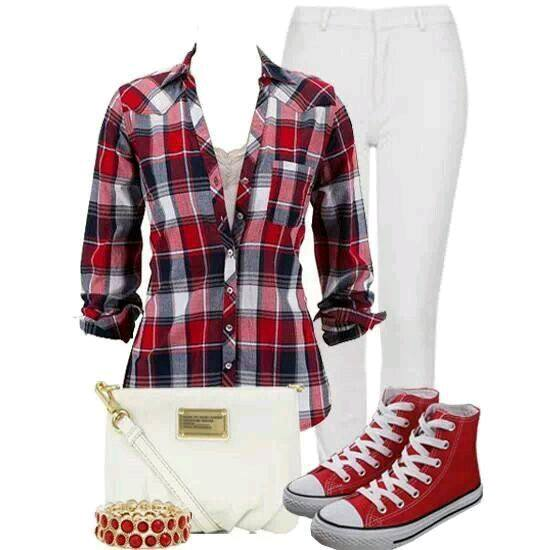 sneakers-red Women's Outfits with Red Shoes- 30 Outfits to Wear with Red Shoes