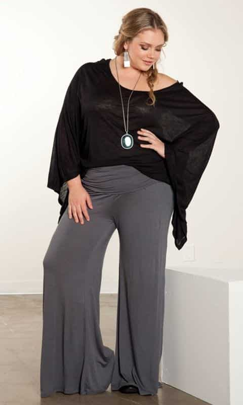 the-party-look Palazzo Pants for Plus Size–24 Palazzo Outfit Ideas for Curvy Girls