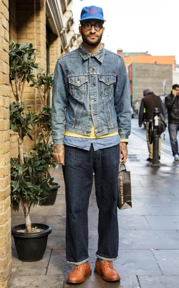 three-layer-denim Denim Jackets Outfits For Men – 17 Ways To Wear Denim Jacket