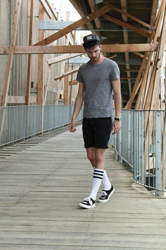 vans-with-socks Men Outfits with Vans-20 Fashionable Ways to Wear Vans Shoes