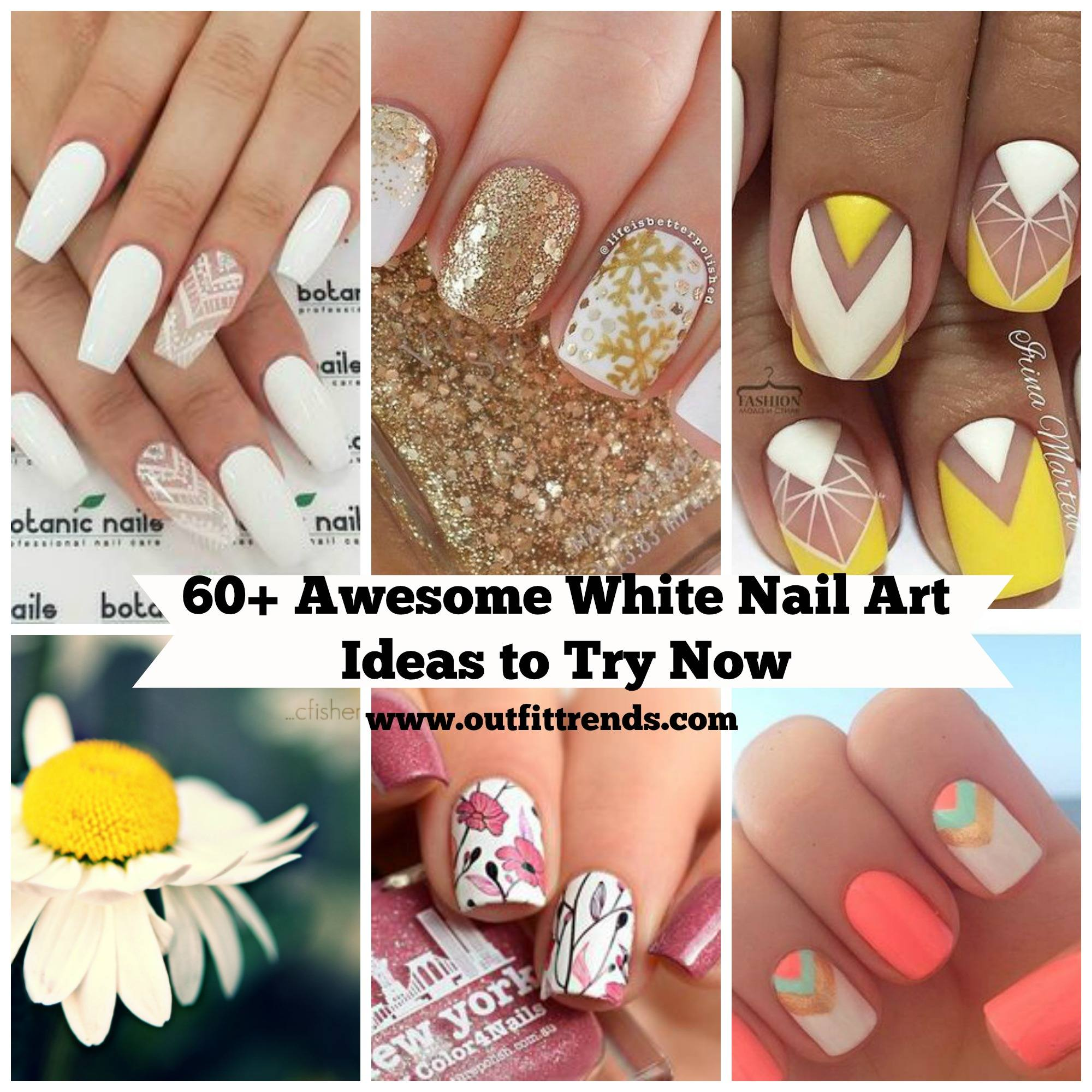 60 Beautiful White Nail Art Designs and Ideas to Try Now