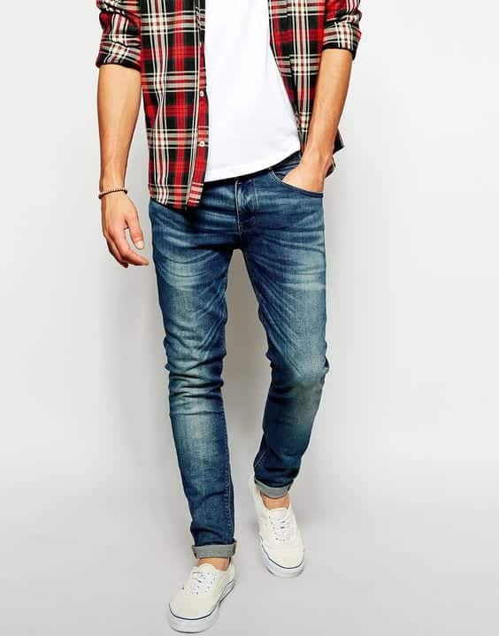 white-vans Men Outfits with Vans-20 Fashionable Ways to Wear Vans Shoes