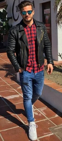 How to Wear Leather Jacket with Jeans