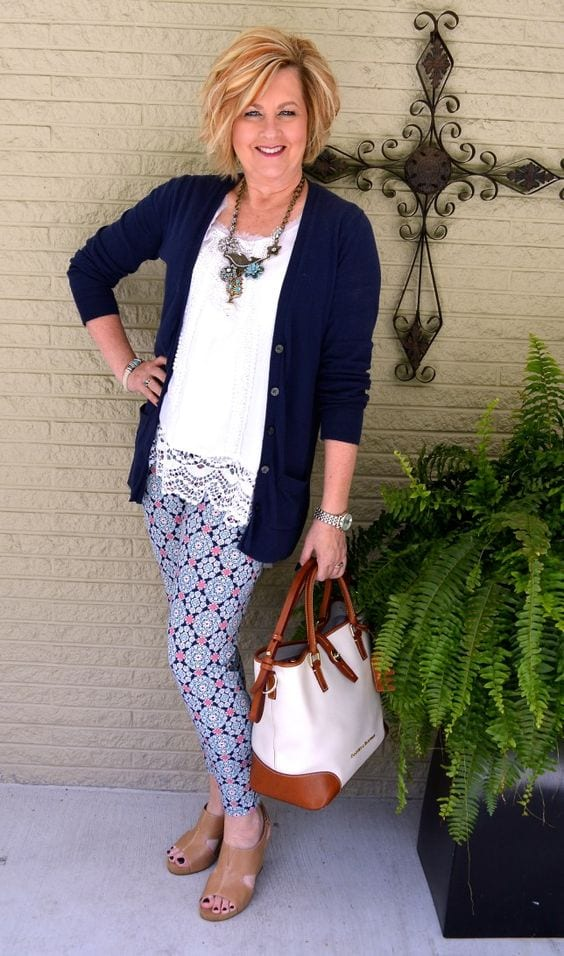 legging outfit for women over 40