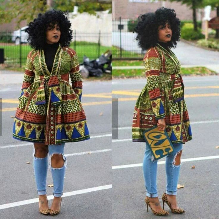 Ankara-in-winters Kitenge Dresses for Young Girls-18 Cute Kitenge Ankara Dress