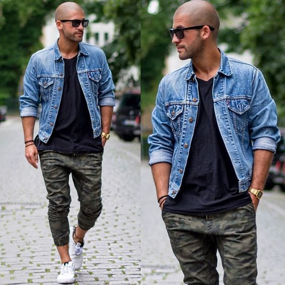 Cargo-Joggers-with-black-shirt Black Shirts Outfits for Men - 19 Ways to Match Black Shirt
