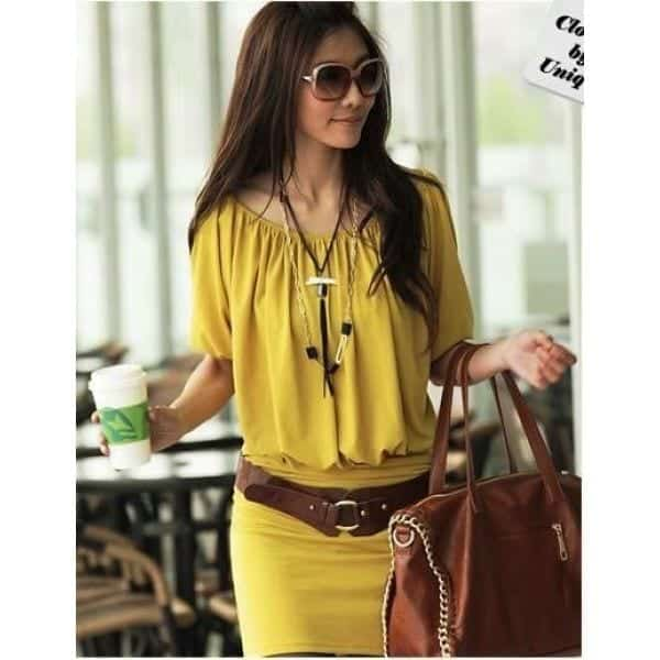 Cute-and-casual-in-yellow Yellow Outfits For Women-14 Chic Ways to Wear Yellow outfits