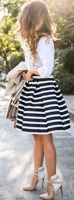 Fashion-1-1 White Shirt Outfits-18 Ways To Wear White Shirts For Girls