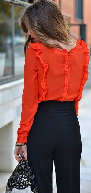 Fashion-1-2 Outfits with Ruffle Tops- 15 Ideas How To Wear Ruffle Tops