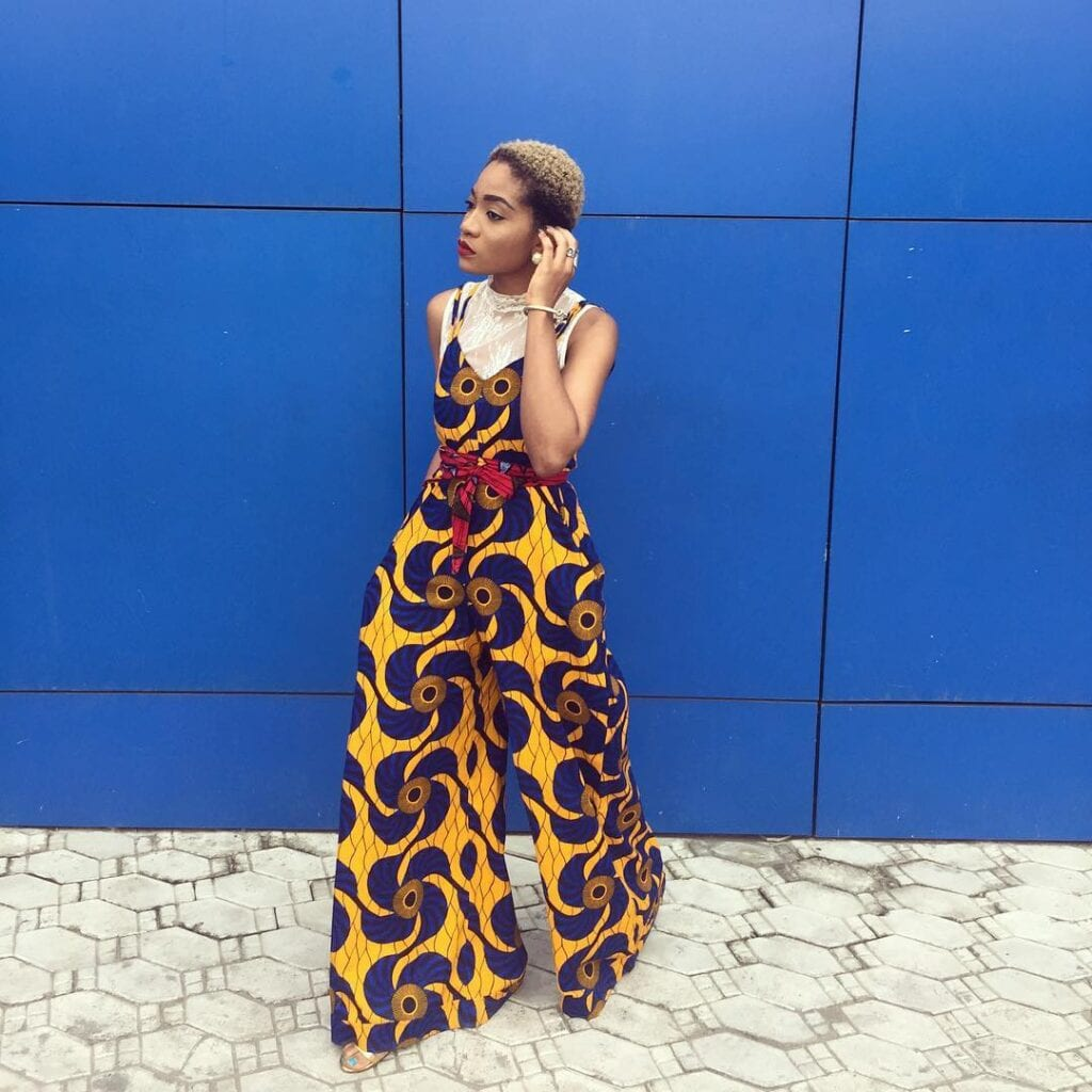 Jennifer-Oseh-in-jumpsuit-1024x1024 Kitenge Dresses for Young Girls-18 Cute Kitenge Ankara Dress